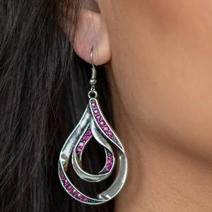 Pink earrings paparazzi